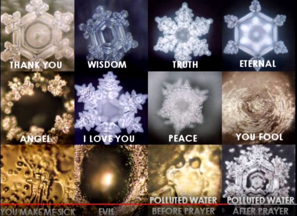 dr emoto crystals and negative and positive emotions