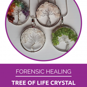 Energy healing crystal necklaces