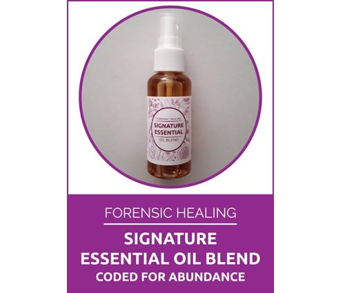 Forensic Healing Signature Oil Blend Coded for Abundance