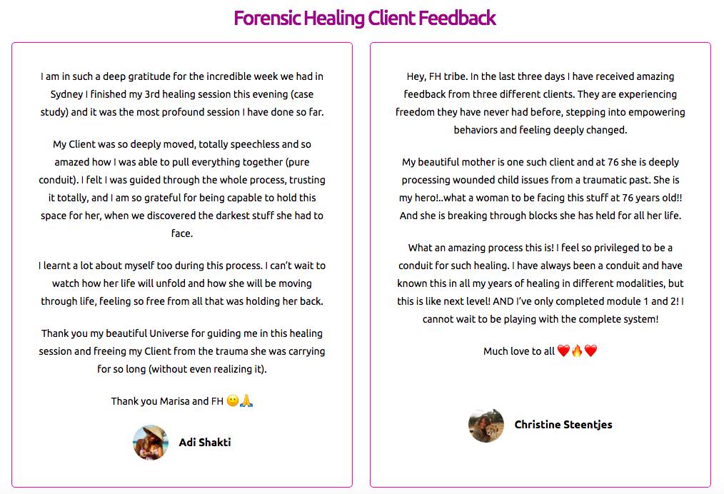 FH client feedback 1