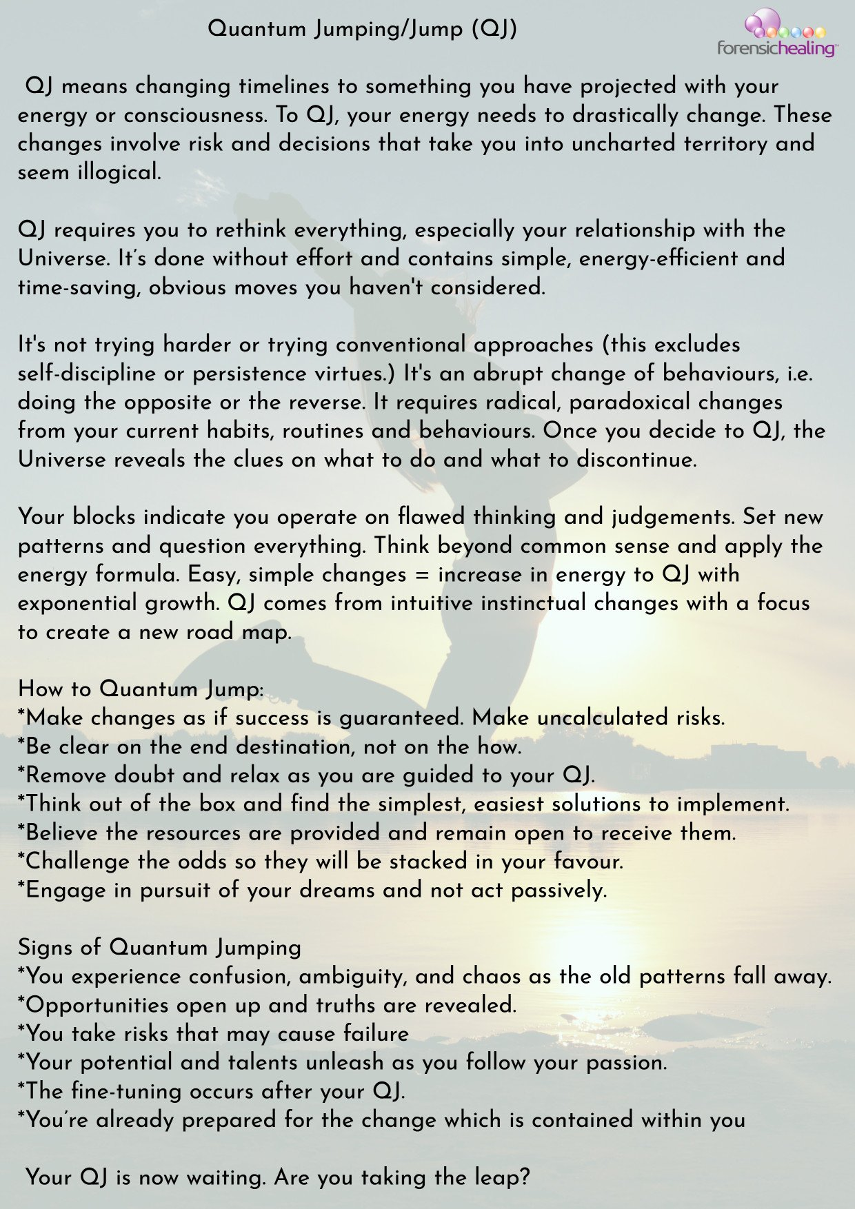 what is quantum jumping